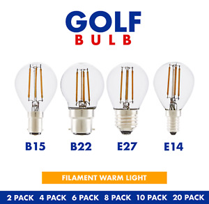 LED Filament Edison GOLF Bulbs E27 B22 E14 Light GOlf Ball Small Globe Lamp