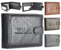 Herren Geldbörse Sicherheits - Geldbeutel Portemonnaie in 4 Farben Top Qualität