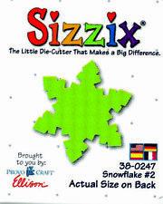 ORIGINAL GREEN SIZZIX DIE SNOWFLAKE #2