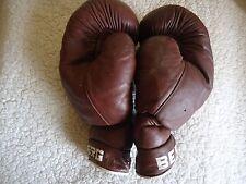 """Vintage alte Leder Boxhandschuhe """"Berg"""" 12 unz-K.O."""