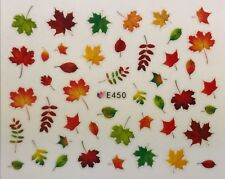 Nail Art 3D Decal Stickers Fall Leaves Autumn E450