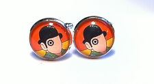 Clockwork Orange Artwork Inspired Glass Domed Cufflinks Stanley Kubrick classic