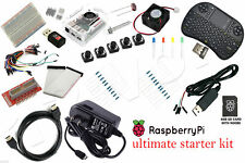 Raspberry Pi 3 Ultimate Starter Kit AC, HDMI, Breadboard, SD Card (kit only)