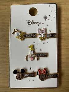 PRIMARK Disney 5 x Pin Badges Badge Collectable Mickey Minnie Daisy Donald Goofy