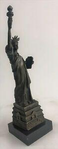 Vintage Collectible Lady Liberty Figural Spelter Bronze Sculpture Art Deco Decor