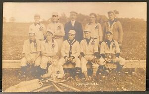 Baseball Team Real Photo Postcard RPPC ~ Mendham Baseball Association ~ Sports