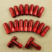 ALUMINUM TUNER RACING JDMSPEED EXTENDED FORGED 60MM LUG NUT 20PCS M14X1.5MM  RED