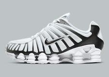 Nike Shox TL White Black Metallic Platinum AV3595-102 Running Shoes Men's NEW