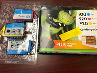 3 New Genuine HP 920 Color Combo Ink Cartridges for HP OfficeJet 6000 6500 7500a