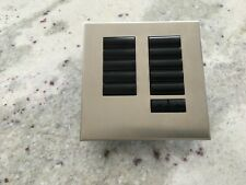 Lutron HQWIS 10BRL keypad and Satin Nickel faceplate