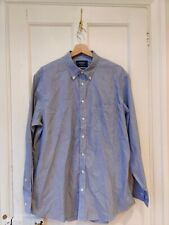 Charles Tyrwhitt Blue And White Striped Classic Fit Shirt Size L