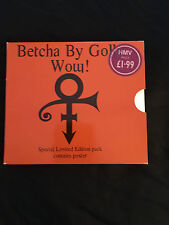 Prince Used Betcha By Golly Wow! special U.K.Limited Edition CD  with Poster