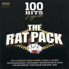 THE RAT PACK - 100 HITS - LEGENDS - FRANK SINATRA DEAN MARTIN - 5 CDS - NEW!!