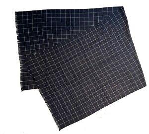 DIOR HOMME Wool Plaid Scarf Blue NEW IN BOX w/ Dior gift box & sealed tissue