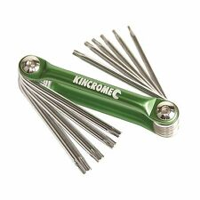 Kincrome FOLDING TORX KEYS SET 10 Pcs Fully Polished K5149 GREEN *Aust Brand
