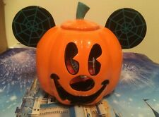 More details for disney mickey mouse halloween pumpkin 🎃 tea light / candle ornament new in box!