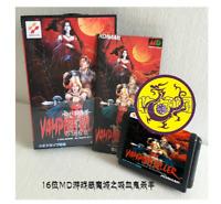 Vampire Killer 16 bit MD Game Card Boxed With Manual For Sega Mega Drive Genesis