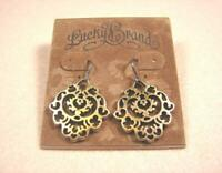 LUCKY BRAND CLASSIC CENSER DANGLE VINTAGE PARTY GOLD PUNK HOOK PIERCED EARRINGS