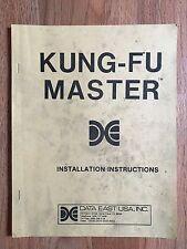 Original KUNG-FU MASTER Arcade Machine Game INSTALLATION MAINTENANCE MANUAL