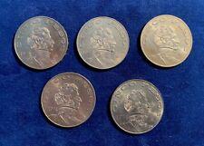 MEXICO ESTADO UNIDOS  5 PESOS COINS: 1971, 1972, 1973, 1974, & 1978, Lot of (5)