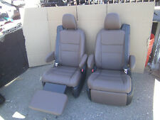 Toyota Sienna  set 2 Leather Bucket Seats Recliners Chestnut / Brown Color