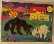 Puzzle Le Loup et l'Agneau, Fernand Nathan, 1973 - Cavahel Vintage