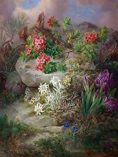Alpine flowers with butterfly Tile Mural Kitchen Bathroom Backsplash Ceramic 6x8