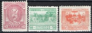 COLOMBIA 1942 STAMPS Sc. # 493/5 MH