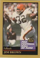 JIM BROWN 1991 Enor HOF Greats card Cleveland Browns Syracuse Football NR MT