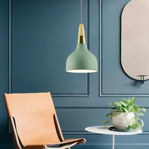 Modern Pendant Light Wood Ceiling Light Kitchen Chandelier Lighting Green Lamp