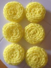 6 -- Yellow NYLON NET POT SCRUBBIES