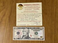 BANCONOTA STATI UNITI USA 10 DOLLARI 2004 A HAMILTON RARA SOSTITUTIVA qFDS