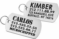 Personalised Steel Military Dog ID Tag Custom Engraved Pet Puppy Cat Name
