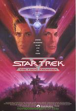 STAR TREK V MOVIE POSTER SS 27x40  STAR TREK 5 MOVIE POSTER ORIGINAL ONE SHEET