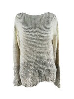 RDI Women's Beige Color Block Chunky Knit Pullover Sweater Size Small NEW