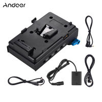Andoer V Mount Battery Plate Adapter+NP-FW50 for Sony A7 A7S A7R A7II BMCC BMPCC