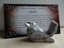 *DOVE* Carved Stone Figurine Totem (1) FREE Bonus LOOK Wiccan Pagan Gift