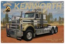 KENWORTH W MODEL GOLD NUGGET  TIN SIGN 80x53cm. KENWORTH W MODEL XLARGE TIN SIGN