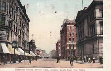 Postcard Sixteenth Street Denver Co looking South Post Office
