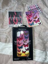 wildflower limited edition iphone x/xs case antonio garza signed card butterfly