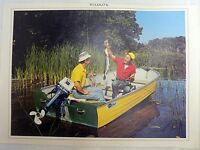 WILD LIFE MEN WITH NORTHERN PIKE FISH PRINT 16 BY 11 INCHES