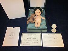 R John Wright Kewpie & Teddy ~ Collector Club 1999/2000 Signed Tag ~ New in Box