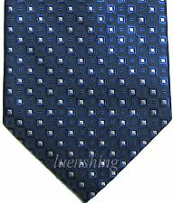 New men's polyester woven neck tie necktie prom navy blue silver dots formal