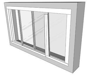 Low cost Opening Secondary Glazing Horizontal Sliding kit, Trackglaze PVC