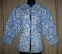 Jacket / Coat  SMALL NWT REVERSABLE 2-Sided Blue & Aqua Soft Light Quilted