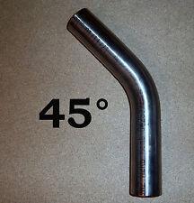 Edelstahl Bogen 53 x 1,5 mm Auspuff Bogen 45° Rohr V2A gebeizt