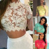 Women's Lace Floral Bralette Bralet Bra Bustier Crop Top UnPadded Cami Tank Tops