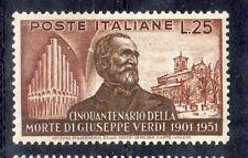 repubblica 1951 verdi 25L centrato gomma integra