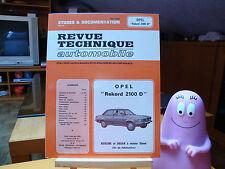 RTA Opel Rekord 2100 D à moteur Diesel - Revue Technique Automobile
