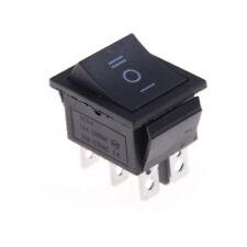 KCD4 Wippschalter Schwarz Dpdt Auf /Off / Auf 6 Pin 16A/250VAC 20A/125VAC TB